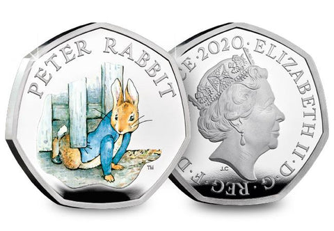 UK 2020 Peter Rabbit 50p Silver Proof Coin