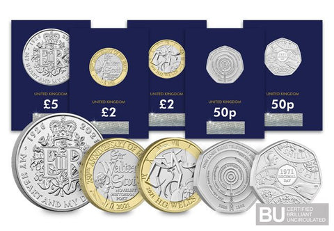 The 2021 CERTIFIED BU Commemorative Coin Set