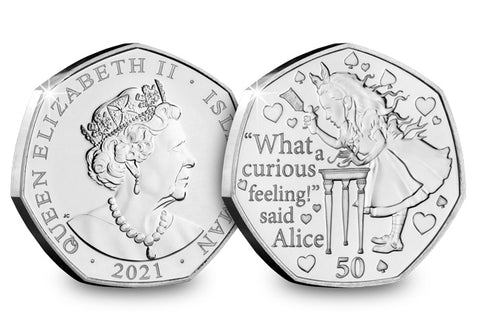 Alice's Adventures in Wonderland BU 50p Coin