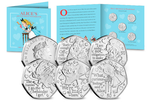Alice's Adventures in Wonderland BU 50p Set