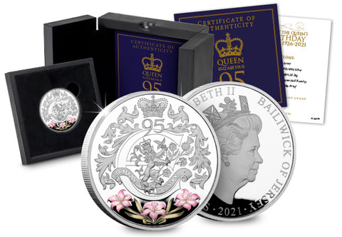 The Queen's 95th Birthday Silver Proof £5