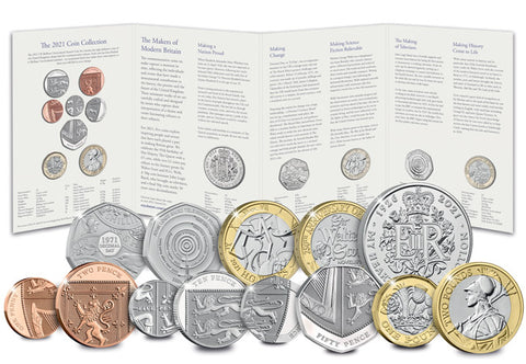 UK 2021 Annual Coin Set BU Pack