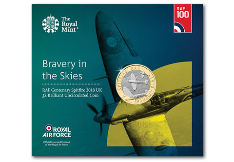 UK 2018 RAF Spitfire £2 BU Pack - The Westminster Collection International