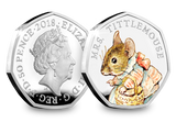 UK 2018 Mrs. Tittlemouse Silver Proof 50p - The Westminster Collection International