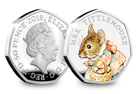 UK 2018 Mrs. Tittlemouse Silver Proof 50p