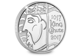 UK 2017 King Canute Silver Proof £5