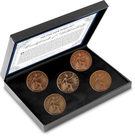 The Five Coin Penny Set - The Westminster Collection International