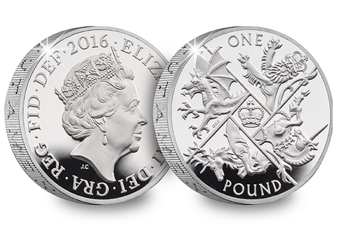 UK 2016 Last Round Pound Silver £1 Coin - The Westminster Collection International