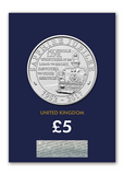 2017 UK Sapphire Jubilee CERTIFIED BU £5 - The Westminster Collection International