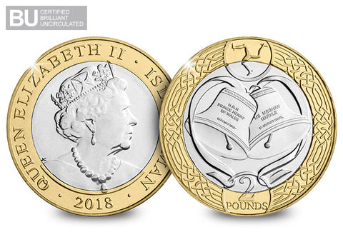 2018 Isle of Man Royal Wedding CERTIFIED BU £2 - The Westminster Collection International