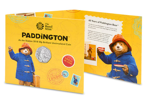 UK 2018 Paddington at the Station 50p BU Pack - The Westminster Collection International
