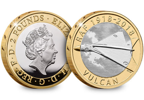 UK 2018 RAF Vulcan Silver Proof £2 - The Westminster Collection International