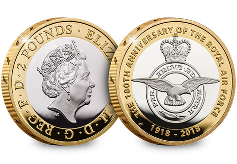 UK 2018 RAF Centenary Silver Proof £2 - The Westminster Collection International
