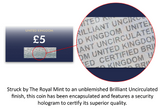 UK 2019 The Crown Jewels CERTIFIED BU £5 - The Westminster Collection International