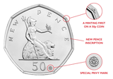 UK 2019 50 Years of the 50p Coin BU Pack - The Westminster Collection International