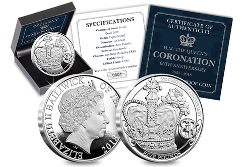 The 65th Coronation Anniversary £5 Proof Coin - The Westminster Collection International