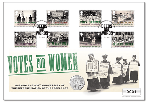 Votes for Women UK Stamp and Coin Cover - The Westminster Collection International