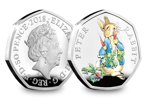 UK 2018 Peter Rabbit Silver Proof 50p - The Westminster Collection International