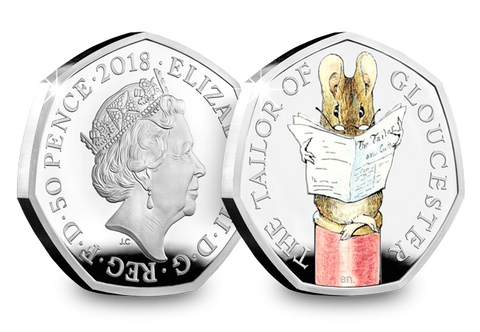 UK 2018 Tailor of Gloucester Silver Proof 50p