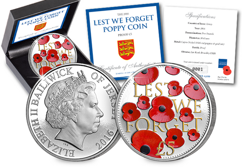 2016 'Lest We Forget' Proof Poppy Coin