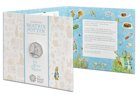 UK 2018 Peter Rabbit BU 50p Coin Pack