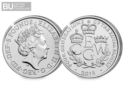 2018 UK 4 Generations CERTIFIED BU £5