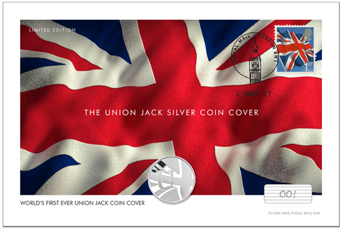 World's First Union Jack Silver Coin Cover - The Westminster Collection International