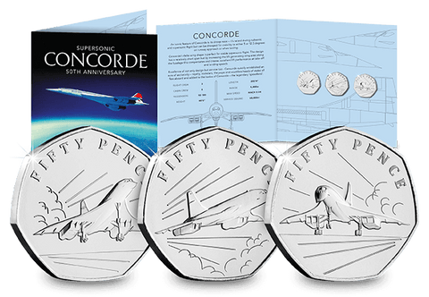 The 50th Anniversary of Concorde 50p Coin Set - The Westminster Collection International