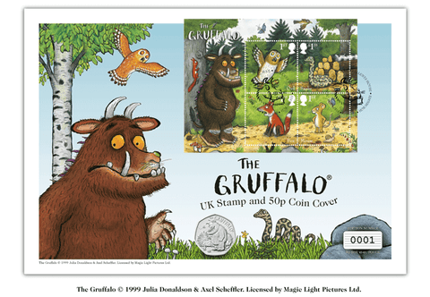 The Gruffalo and Mouse UK Stamp and Coin Cover