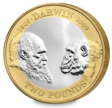 2009 Charles Darwin Silver Proof £2