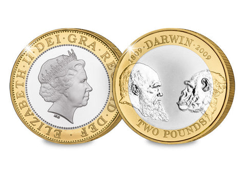2009 Charles Darwin Silver Proof £2 - The Westminster Collection International