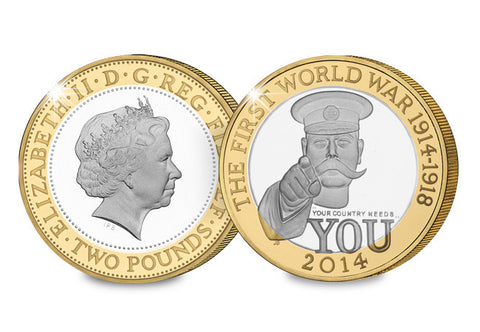UK 2014 First World War Centenary Silver Proof £2 - The Westminster Collection International