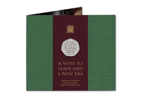 The Brexit 50p - Own the UK 2020 Withdrawal from the EU 50p BU Pack - The Westminster Collection International