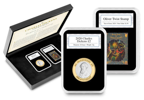 Charles Dickens Coin and Stamp Set