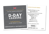 The D-Day Leaders 'Churchill' Silver Proof Two Pound Coin - The Westminster Collection International