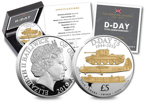 The D-Day 75th Anniversary Proof Five Pound - The Westminster Collection International