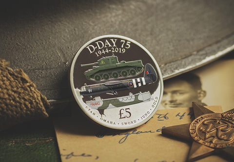 The D-Day 75th Anniversary Silver Proof Five Pound Coin - The Westminster Collection International