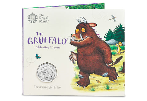 UK 2019 The Gruffalo & Mouse 50p BU Pack