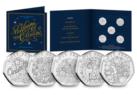 The Christmas Pantomime 50p Coin Set - The Westminster Collection International