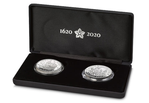 The 2020 UK and US 400th Anniversary of the Mayflower Silver Proof Coin and Medal Set