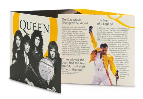 Own the UK 2020 Queen £5 BU Pack – pay tribute to Music Legends - The Westminster Collection International