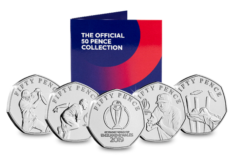 Official ICC Cricket World Cup 2019 50p Coin Set - The Westminster Collection International