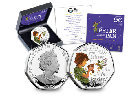 The 2020 Official Peter Pan Silver Proof 50p
