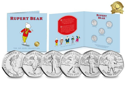 The Complete Rupert Bear 50p Collection - The Westminster Collection International