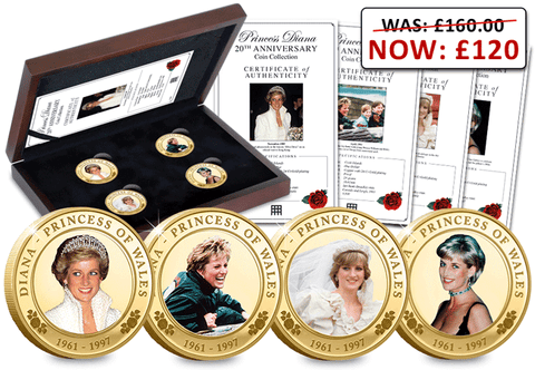 The Princess Diana 20th Anniversary Coin Collection - 20% OFF