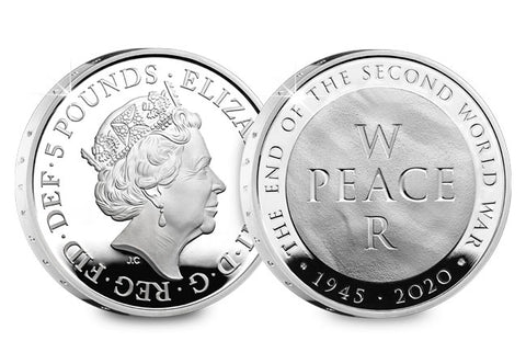 UK 2020 End of WWII Silver Proof £5 Coin