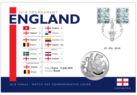 England 2018 Tournament Coin Cover - The Westminster Collection International