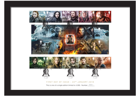 Game of Thrones Stamps Framed Collector Card - £5.00 OFF - The Westminster Collection International