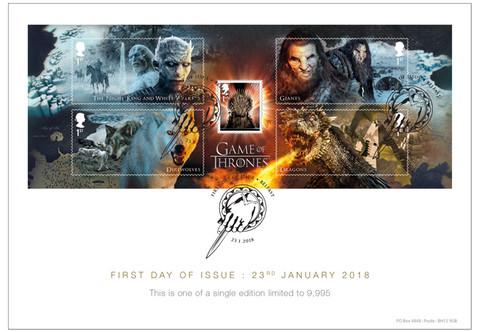 Game of Thrones Stamp Collector Card - The Westminster Collection International