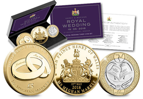 The Royal Wedding 2018 Three Coin Set - The Westminster Collection International